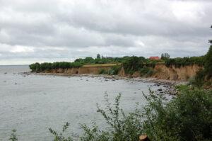 Kliff der Insel Greifswalder Oie